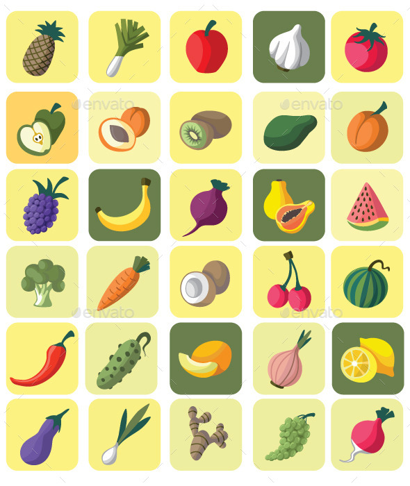 GraphicRiver Fruits and Vegetables 11049396