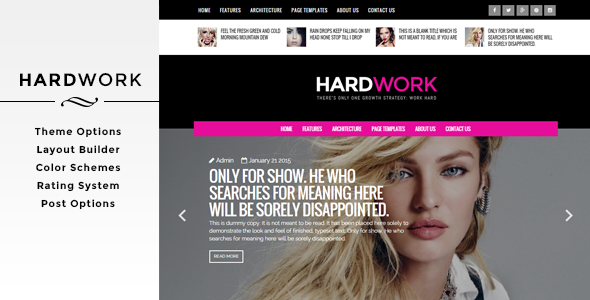 ThemeForest HardWork Magazine WordPress Theme 10943126