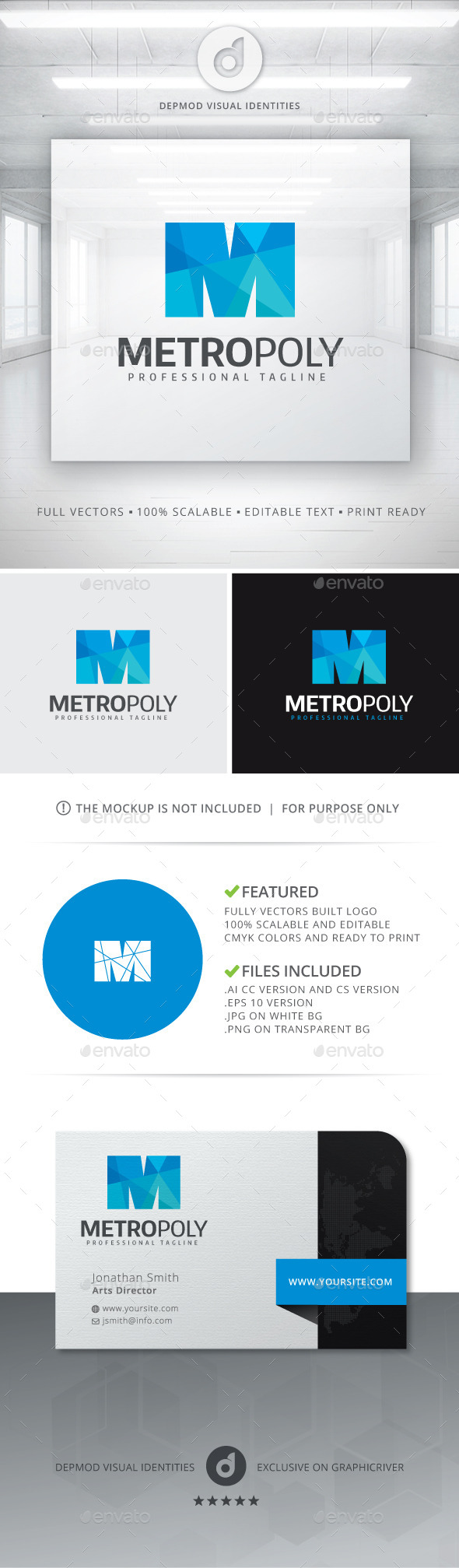 GraphicRiver Metro Poly Logo 11049610