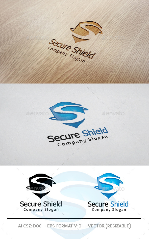 GraphicRiver Secure Shield Logo 11049635