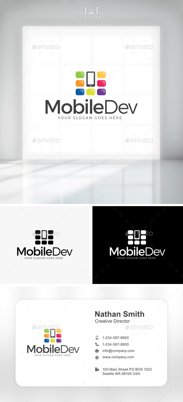 GraphicRiver Mobile Dev Logo 11049662
