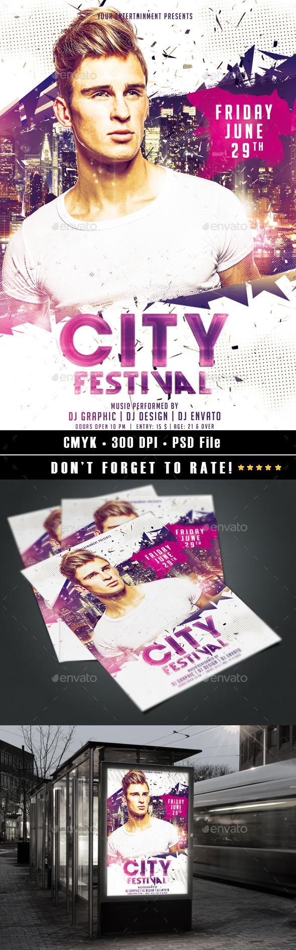 GraphicRiver City Festival 11002082
