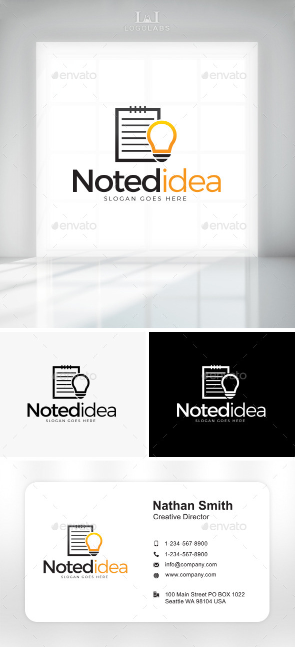 GraphicRiver Noted Idea Logo 11049699