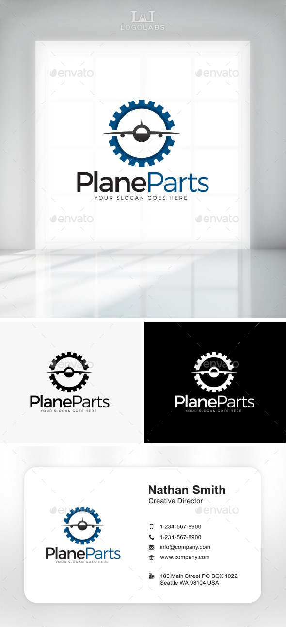 GraphicRiver Plane Parts Logo 11049843