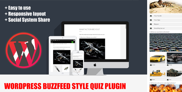 CodeCanyon Wordpress BuzzFeed Style Quiz Plugin 11049844