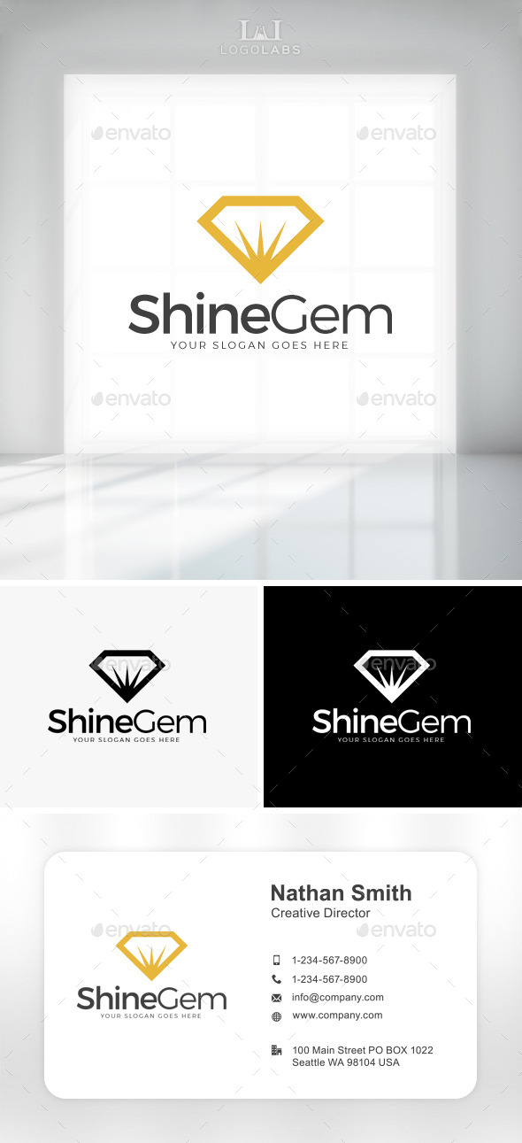 GraphicRiver Shine Gem Logo 11049866