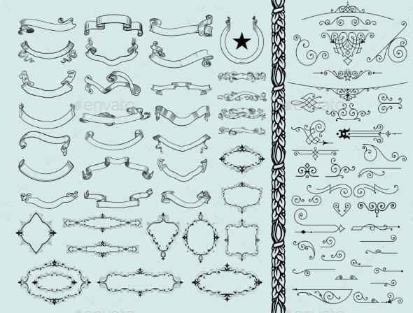 GraphicRiver Vintage Design Elements 11050044