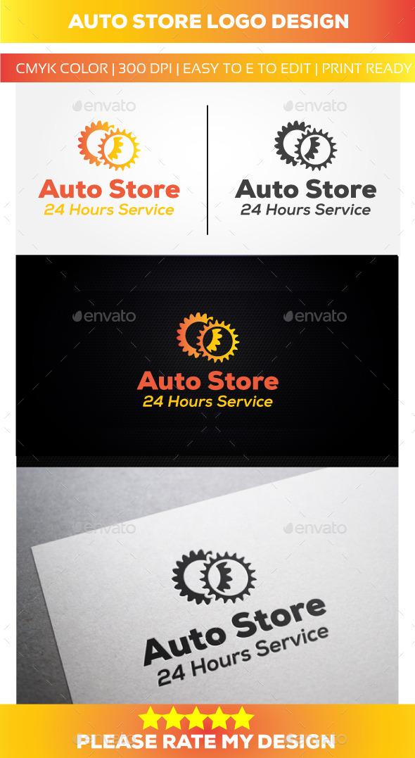 GraphicRiver Auto Store Logo 11050191