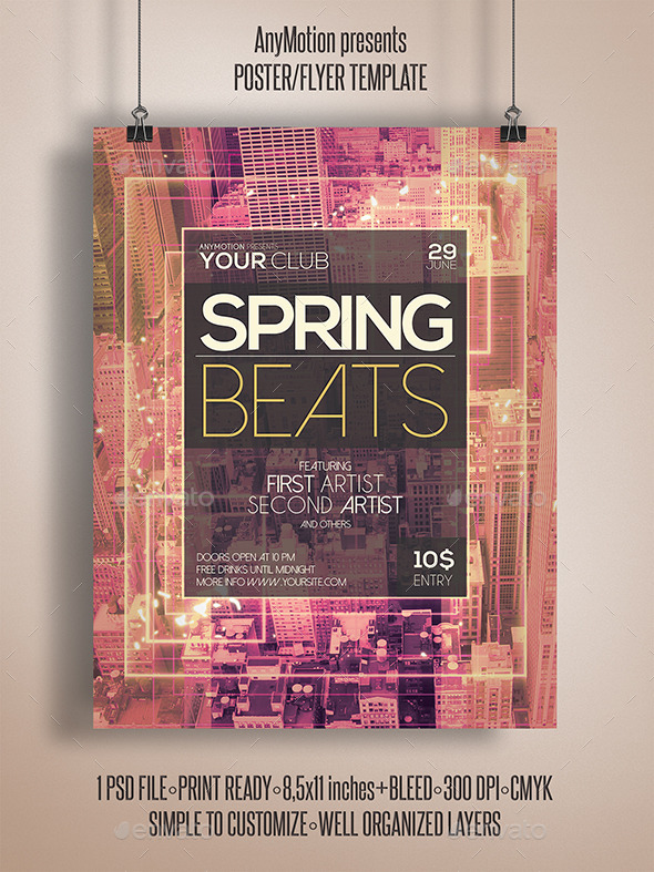GraphicRiver Spring Beats Flyer 11050228