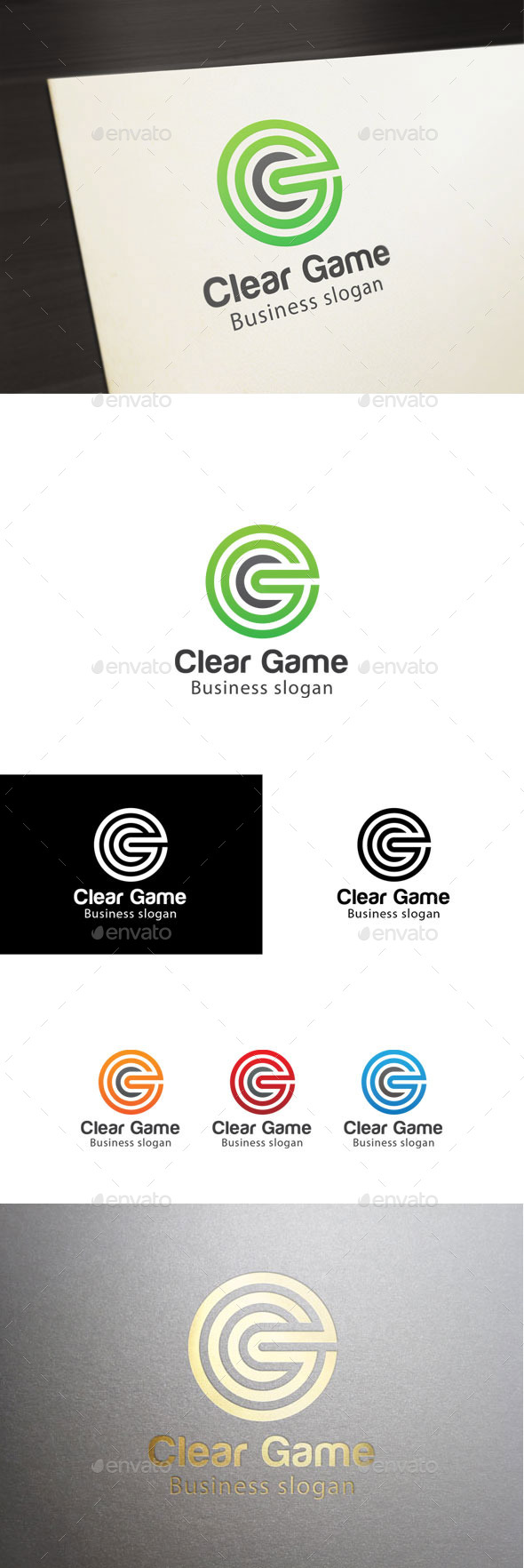 GraphicRiver Clear Game-Letter C Logo 11050312