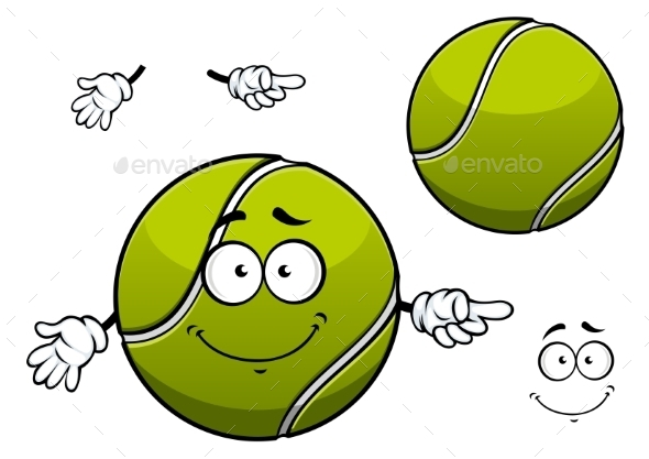 GraphicRiver Tennis Ball Cartoon 11050333