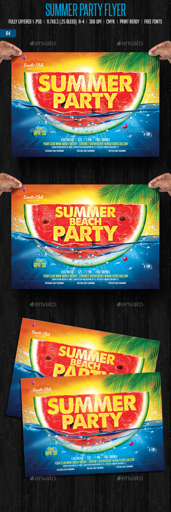 GraphicRiver Summer Party Flyer 11050381