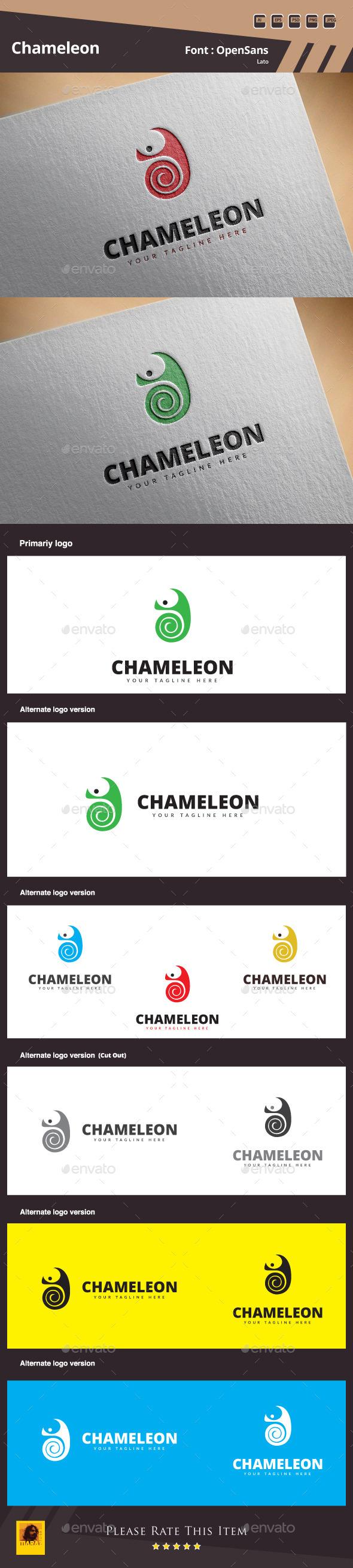 GraphicRiver Chameleon Logo Template 11050461
