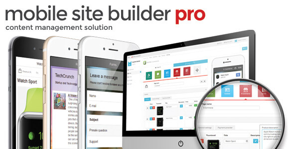 CodeCanyon Mobile Site Builder Pro 11050520