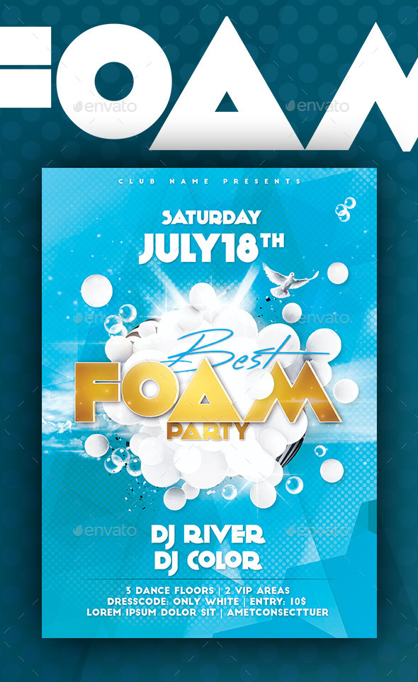GraphicRiver Best Foam Party Flyer Poster 11050529