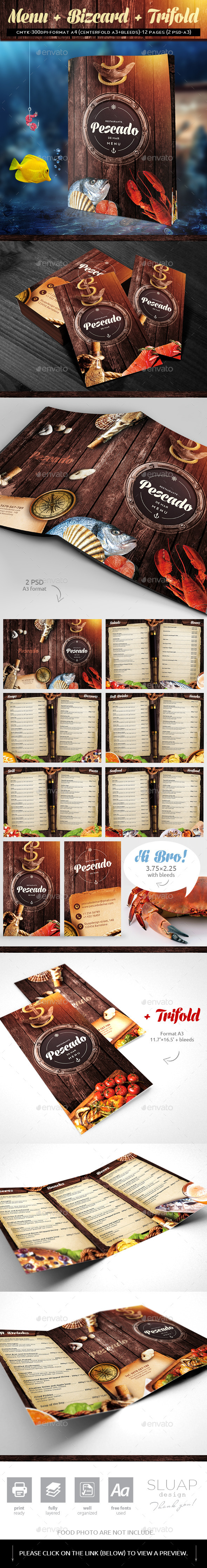 GraphicRiver Menu & bizcard 11013269