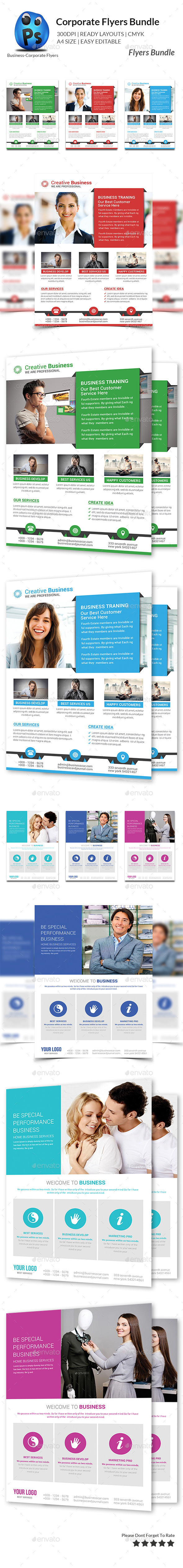GraphicRiver Corporate Business Flyer Bundle 11050542