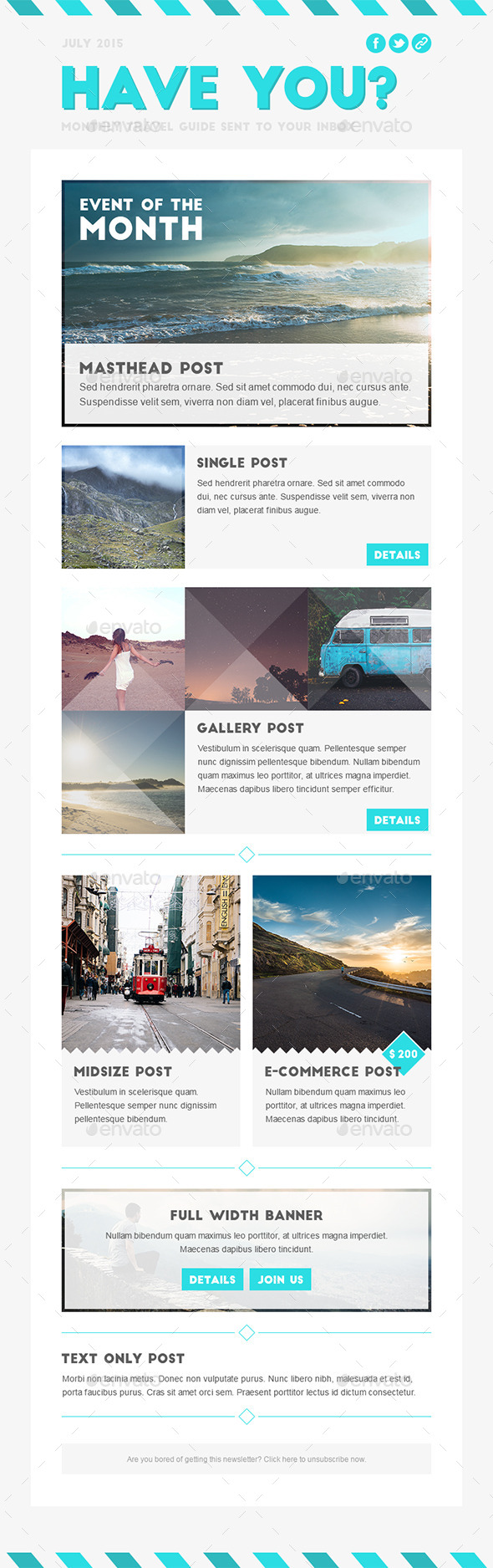GraphicRiver Have You Travel Marketing Newsletter Template 10985109