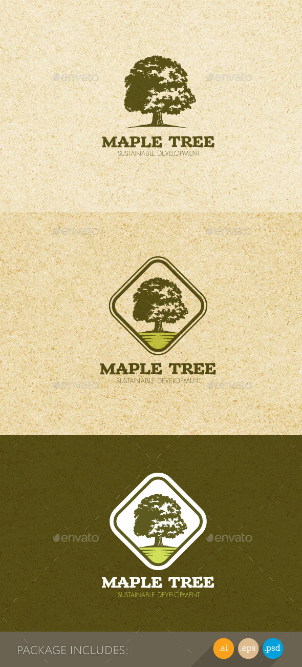 GraphicRiver Maple Tree Sustainable Development Logo 11050945