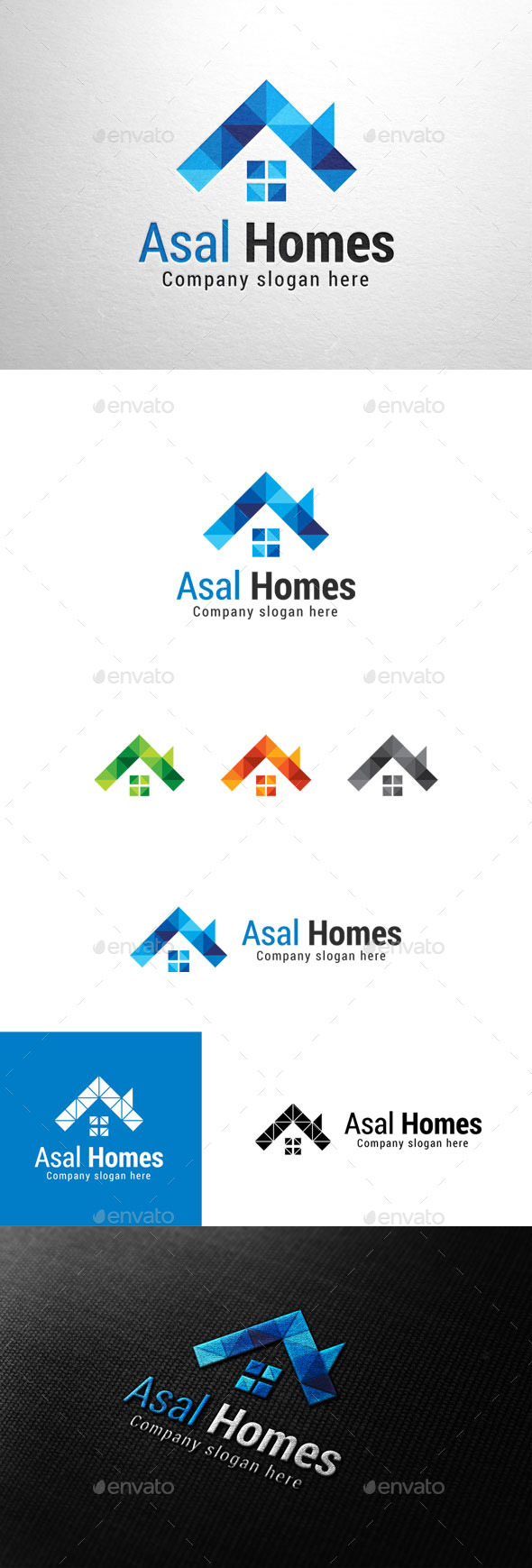GraphicRiver Asal Homes House Logo 11050969