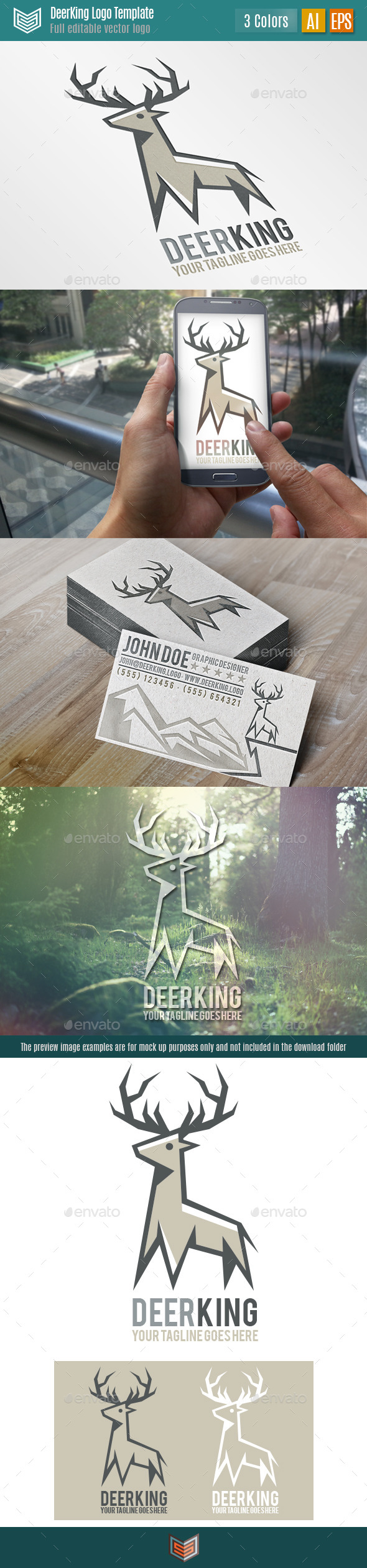 GraphicRiver Deer King Logo 11051068