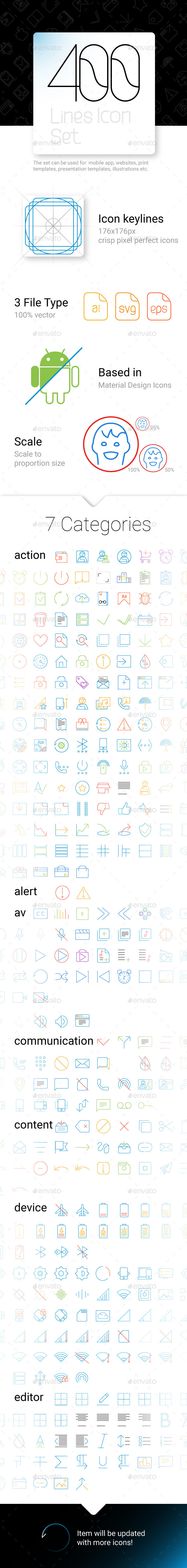 GraphicRiver Line Icons Set 11013667