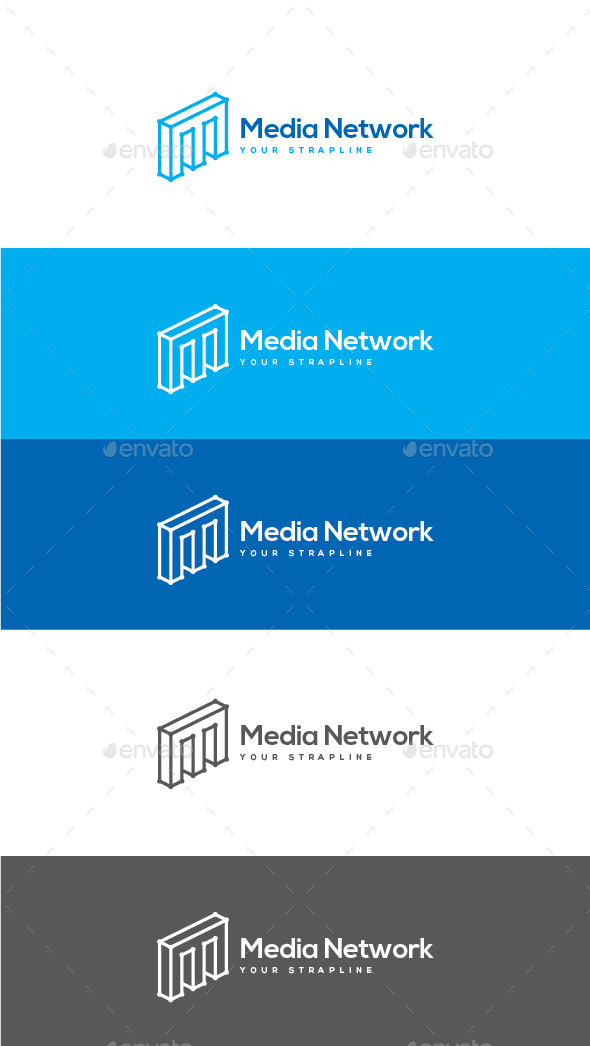 GraphicRiver Media Network Letter M Logo 11051162