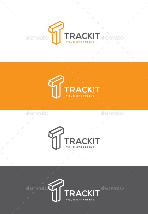 GraphicRiver Trackit Letter T Logo 11051474