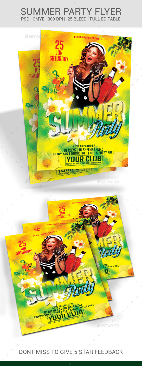 GraphicRiver Summer Party Flyer 11051657