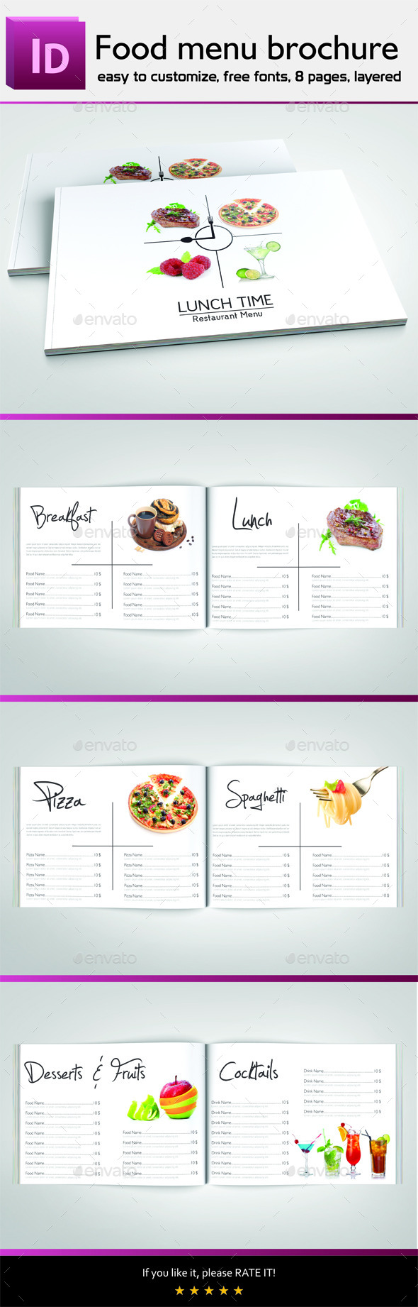 indesign templates for restaurant menu for free. Black Bedroom Furniture Sets. Home Design Ideas