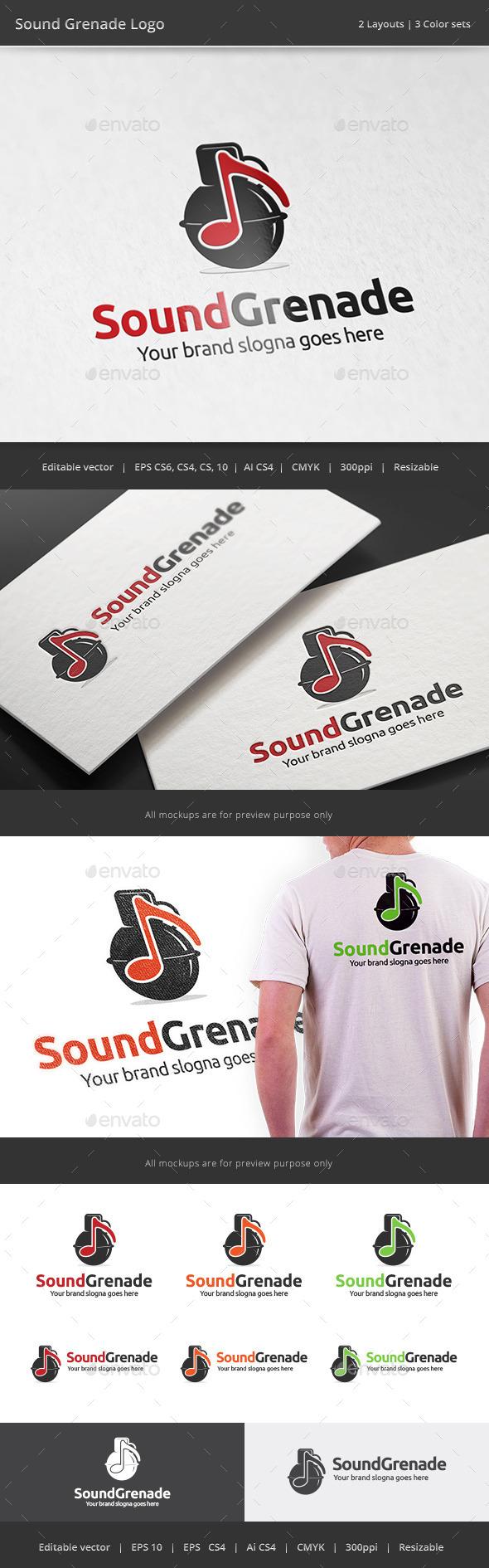 GraphicRiver Sound Grenade Music Logo 11051861