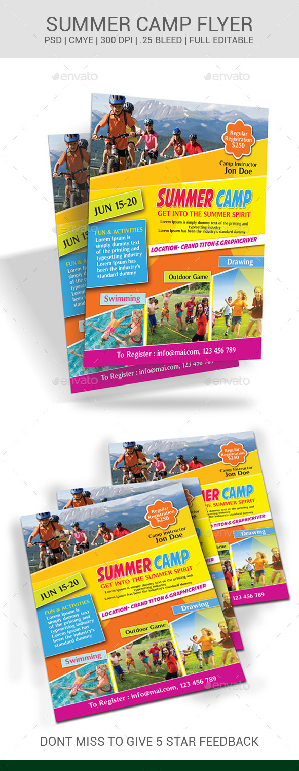 GraphicRiver Summer Camp Flyer 11051943