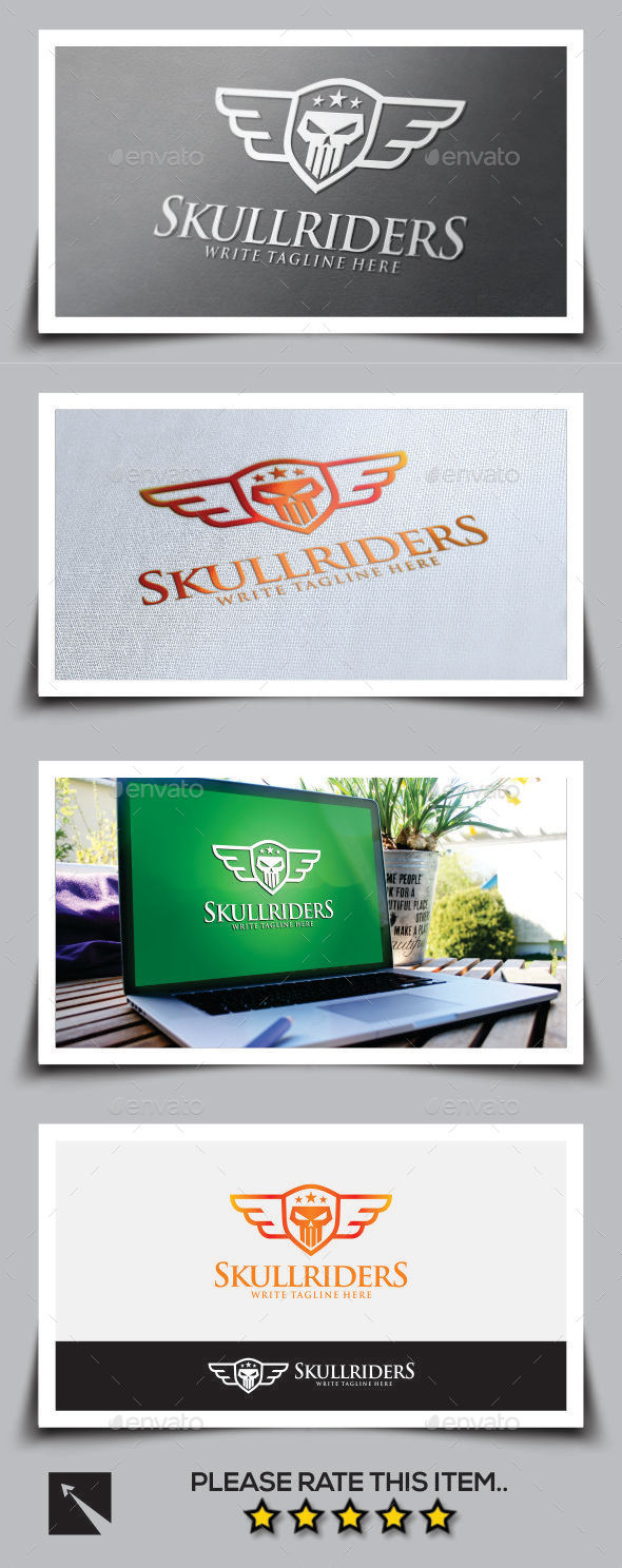 GraphicRiver Skull Rider V2 Logo Template 11051950