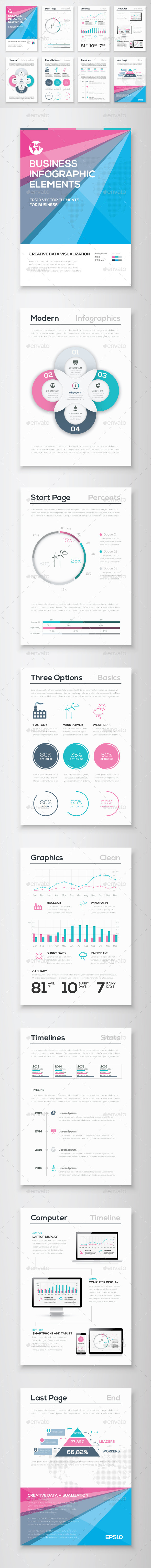 GraphicRiver Infographic Brochure Vector Elements Kit 7 11051967
