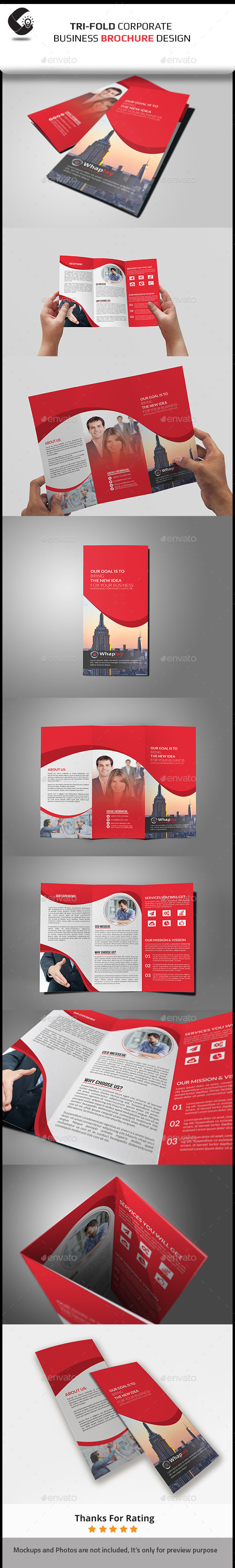 GraphicRiver Corporate Trifold Brochure 11051970