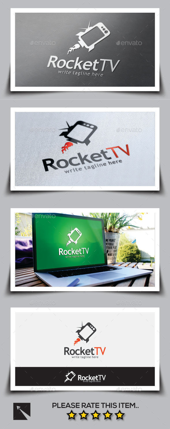 GraphicRiver Rocket Tv Logo Template 11052098