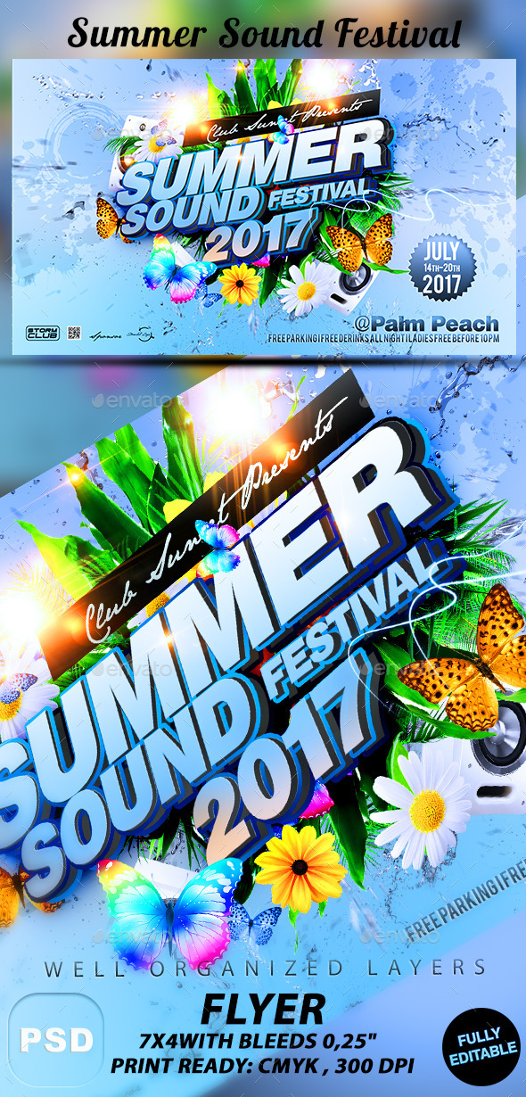 GraphicRiver Summer Sound Festival 11052236