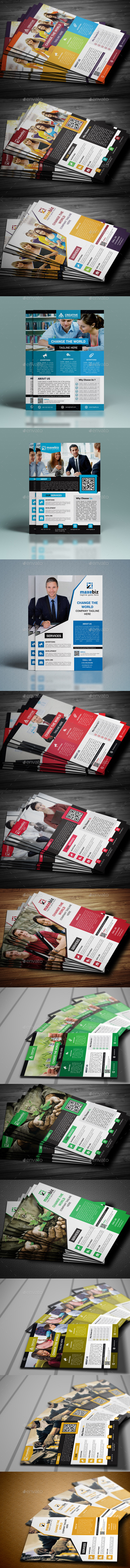 GraphicRiver Corporate Flyer Bundle 11052371