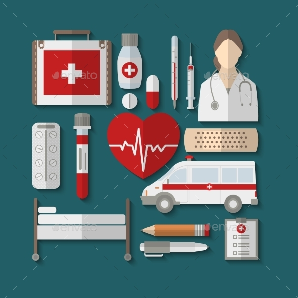 GraphicRiver Medical Icons 11052415
