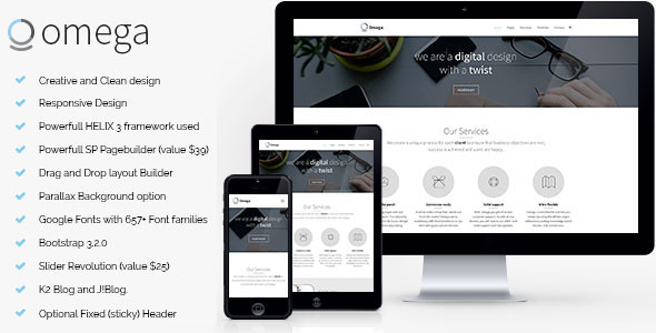 ThemeForest Omega Multipurpose Business Joomla Template 11052417