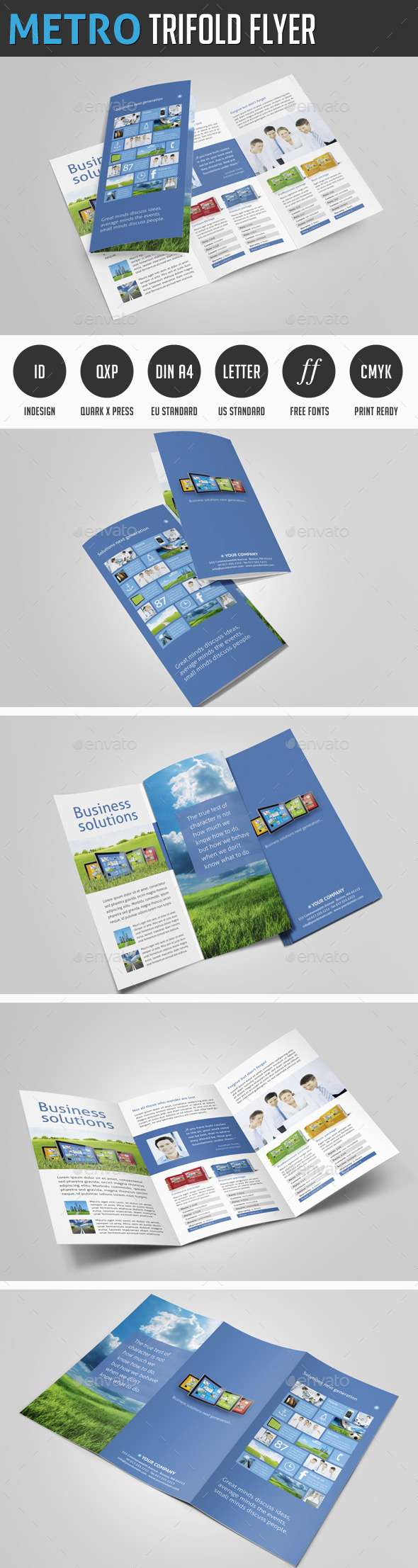 Metro Trifold Flyer - Corporate Flyers