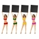 Women in Bikinis Making an Announcent - GraphicRiver Item for Sale