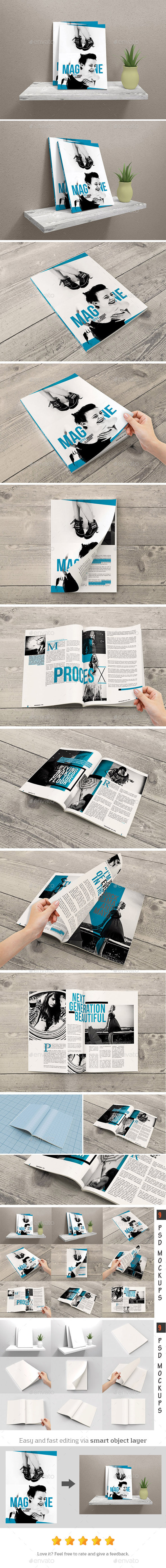 GraphicRiver Magazine Mockups 11052701