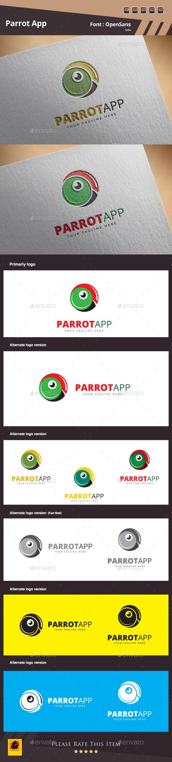 GraphicRiver Parrot App Logo Template 11052752