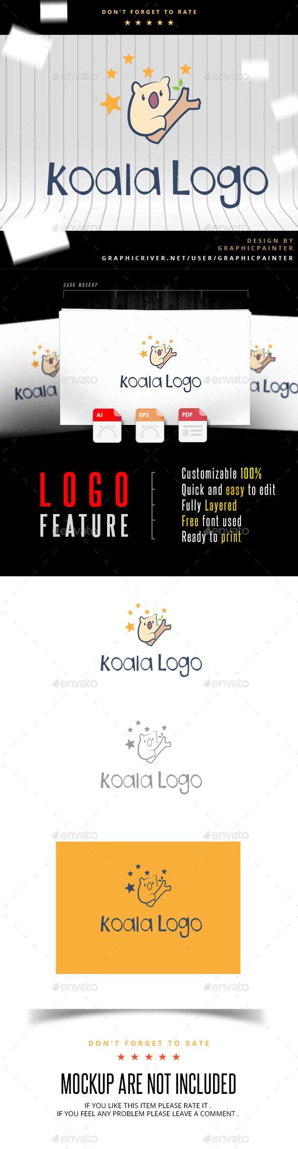 GraphicRiver Koala Logo 11052795