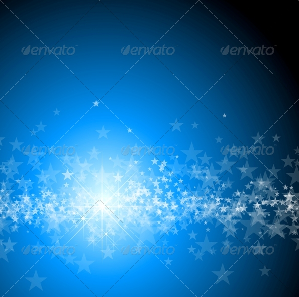 GraphicRiver Blue Christmas Background 136922