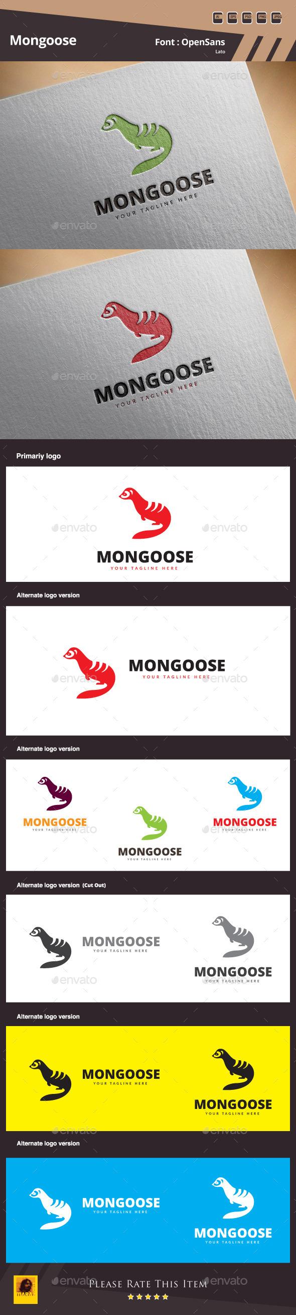 GraphicRiver Mongoose Logo Template 11052836