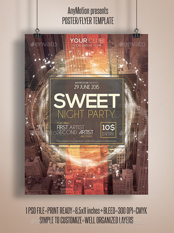 GraphicRiver Sweet Night Party Flyer Poster 11052882