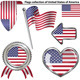 Glossy Icons with Flags of USA - GraphicRiver Item for Sale