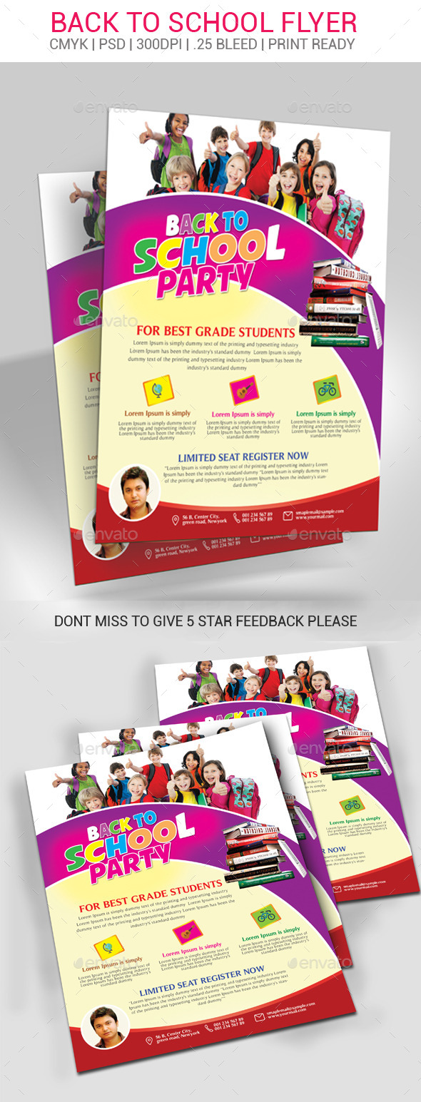 GraphicRiver Back To School Flyer 11052974